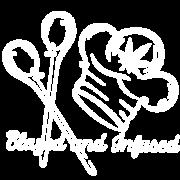 Blazed and Infused - White Logo